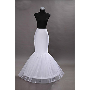cheap Wedding Slips-Princess Petticoat Hoop Skirt Tutu Under Skirt Mermaid and Trumpet Gown Slip 1950s Gothic White / Medieval / Crinoline
