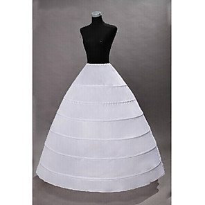 cheap Historical & Vintage Costumes-Princess Petticoat Hoop Skirt Tutu Under Skirt Classic Lolita 1950s Gothic Black White / Medieval / Crinoline