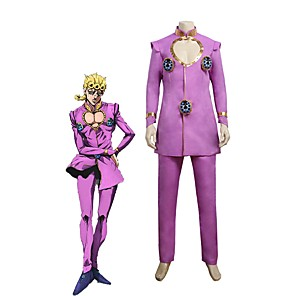 cheap Anime Costumes-Inspired by JoJo's Bizarre Adventure Giorno Giovanna JOJO Anime Cosplay Costumes Japanese Cosplay Suits Other Long Sleeve Top Pants For Unisex