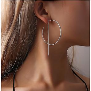 cheap Necklaces-Women's Hoop Earrings Earrings Hollow Out Ladies Simple European Fashion Earrings Jewelry Silver / Golden For Daily Festival 2pcs