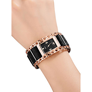 cheap Women's Heels-Women's Wrist Watch Square Watch Quartz Ladies Water Resistant / Waterproof Stainless Steel Black / Silver / Red Analog - Rose Gold Red Gold