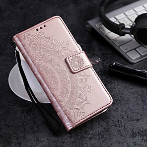 cheap Samsung Case-Case For Samsung Galaxy J7 Prime / J7 (2017) / J7 (2018) Wallet / Card Holder / Flip Full Body Cases Flower Hard PU Leather
