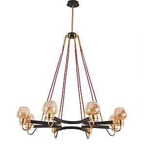 cheap Candle-Style Design-QINGMING® 8-Light 99 cm Mini Style Chandelier Metal Glass Mini Electroplated Artistic / Traditional / Classic 110-120V / 220-240V