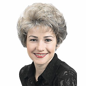 cheap Synthetic Trendy Wigs-Synthetic Wig Curly Pixie Cut Wig Blonde Short Grey Synthetic Hair 4 inch Women's Synthetic Blonde