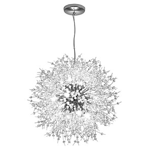 cheap Globe Design-16 Bulbs OBSESS® 55 cm Crystal / Mini Style / Eye Protection Chandelier Metal Crystal / Globe Electroplated Contemporary 110-120V / 220-240V
