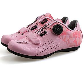 povoljno Obuća za vožnju biciklom-SANTIC Odrasli Obuća za cestovni bicikl Prozračnost Anti-Slip Cushioning Biciklizam / Bicikl Biciklizam Siva + bijela purpurna boja Pink Žene Tenisice za biciklizam / D-Link / Prozračan Mesh