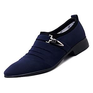 cheap Men's Oxfords-Men's Comfort Shoes PU Fall Oxfords Blue / Black / Party & Evening / Party & Evening