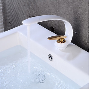 cheap Bathroom Sink Faucets-Cool Bathroom Sink Faucet - Creative Gold / Painted Finishes Centerset Single Handle One HoleBath Taps