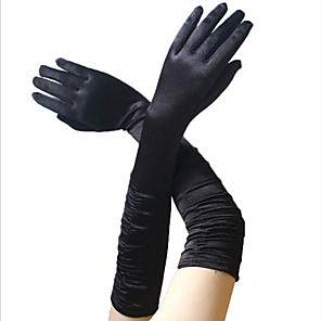 cheap Historical & Vintage Costumes-Audrey Hepburn 1950s Gloves Long Gloves Women's Costume Black / Golden / White Vintage Cosplay Party Prom