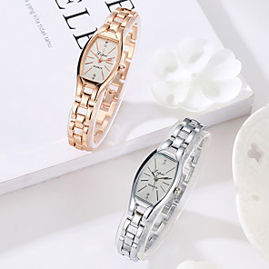 cheap Smartwatches-Women's Quartz Watches Quartz Stylish Fashion Casual Watch Silver / Rose Gold Analog - Golden+Black Golden+White White One Year Battery Life