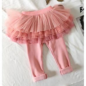 b7aac8f7215 Μωρό Κοριτσίστικα Βασικό Καθημερινά Μονόχρωμο Πολυεστέρας Παντελόνι  Ανθισμένο Ροζ / Νήπιο