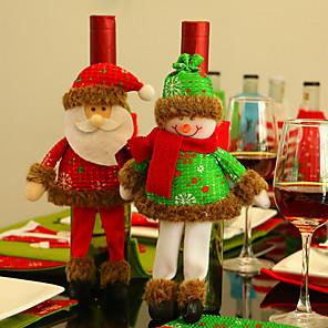 halpa Joulukoristeet-joulukoristeita joulupukin viinipullon kannet 1kpl- (satunnainen lähetys)