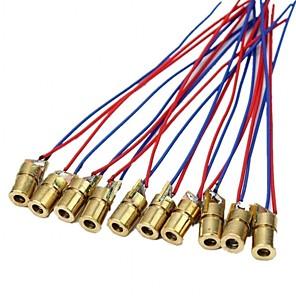 cheap Novelties-10 X Mini Laser Dot Diode Module Head WL Red 650nm 6mm 5V 5mW Pack of 10