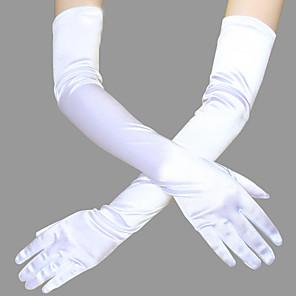 preiswerte Historische & Vintage Kostüme-The Great Gatsby Charleston 20er Gatsby Brüllen 20s Handschuhe Damen Kostüm Kopfbedeckung Schwarz / Golden / Weiß Vintage Cosplay Party Abiball Ärmellos