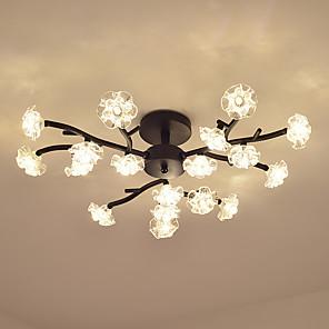 cheap Ceiling Lights-18 Bulbs OYLYW 72 cm Flush Mount Lights Metal Glass Painted Finishes LED / Modern 110-120V / 220-240V / G4