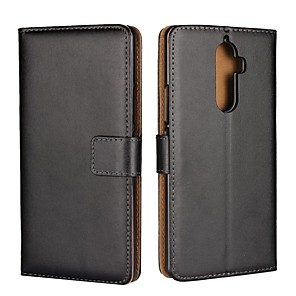 cheap Other Phone Case-Case For Lenovo Lenovo P2(Lenovo P2 P2a42, Lenovo Vibe P2) / Lenovo Vibe K5 Plus / Lenovo Vibe K5 Wallet / Card Holder / with Stand Full Body Cases Solid Colored Hard Genuine Leather
