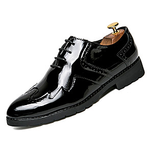 cheap Clutches & Evening Bags-Men's Comfort Shoes PU Fall Casual Oxfords Wear Proof Gold / Black