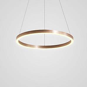 cheap Pendant Lights-1-Light LED® Circular Novelty Pendant Light Downlight Brushed Aluminum Adjustable 110-120V 220-240V Warm White Cold White
