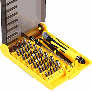 cheap Tool Sets-Professional Portable 45 in 1 Hardware Screwdriver Tools Precision Bit Fix Hand Tool Kit For Phone Laptop Household Repair