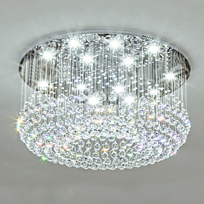 cheap Dimmable Ceiling Lights-12 Bulbs 80 cm Crystal Metal Traditional / Classic / Country 110-120V / 220-240V / GU10