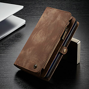 cheap Huawei Case-CaseMe Case For Huawei Huawei Mate 20 pro Wallet / Card Holder / with Stand Full Body Cases Solid Colored Hard PU Leather