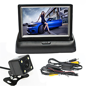 cheap Car DVD Players-4.3 inch 170 Degree Car Reversing Monitor Foldable / Wireless / Night Vision for Car