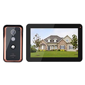 cheap Video Door Phone Systems-MOUNTAINONE® 9 inch Wired Wifi Video Door Phone Doorbell Intercom Entry System with 1000TVL Wired IR-CUT Camera Night VisionSupport Remote APP