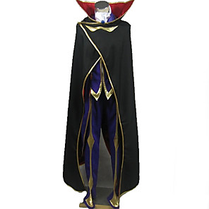 cheap Videogame Cosplay Accessories-Inspired by Code Gease Lelouch Lamperouge Anime Cosplay Costumes Japanese Cosplay Suits Special Design Coat Top Pants For Men's Women's / Gloves / Cloak / Gloves / Cloak