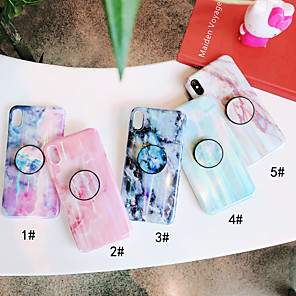 cheap iPhone Cases-Case For Apple iPhone XS / iPhone XR / iPhone XS Max with Stand / IMD Back Cover Marble Soft TPU
