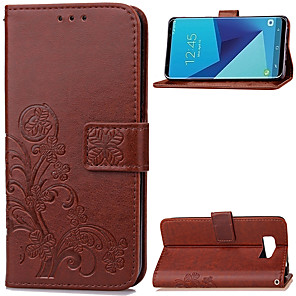 cheap Samsung Case-Case For Samsung Galaxy S8 Plus / S8 Wallet / Card Holder / with Stand Full Body Cases Solid Colored Soft PU Leather