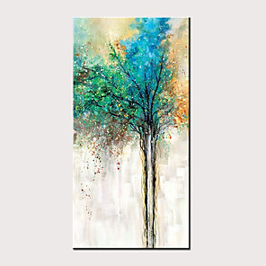 cheap Floral/Botanical Paintings-Oil Painting Hand Painted Abstract Floral / Botanical Classic Modern Rolled Canvas Rolled Without Frame