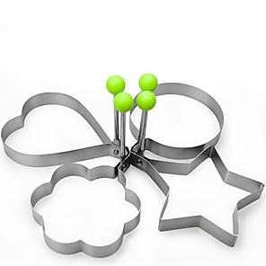 povoljno Sokovnici-4pcs novi dizajn četiri oblika od nehrđajućeg čelika pržena jaja oblikovatelj palačinka kalup kalup za kuhanje alata