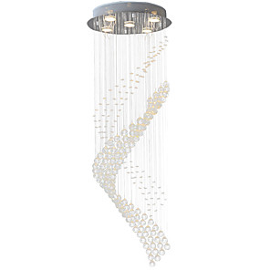 cheap Pendant Lights-5-Light 40(15.75'') Crystal / LED Pendant Light Metal Electroplated Modern Contemporary 110-120V / 220-240V