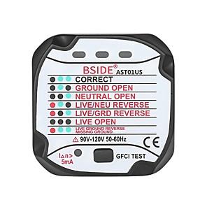 Недорогие Цифровые мультиметры и осциллографы-bside ast01 розетка розетка тестер цепи полярность детектор напряжения розетка
