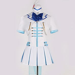 cheap Anime Costumes-Inspired by Love Live Cosplay Anime Cosplay Costumes Japanese Cosplay Suits Art Deco Bowknot Blouse Top Skirt For Men's Women's / Gloves / More Accessories / Cap / Gloves / More Accessories