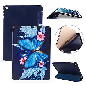 cheap iPad case-Case For Apple iPad Air / iPad 4/3/2 / iPad Mini 3/2/1 Shockproof / Flip / Ultra-thin Full Body Cases Butterfly Soft Silicone / iPad Pro 10.5 / iPad (2017)