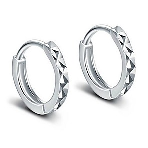 cheap Earrings-Women's Hoop Earrings Huggie Earrings Classic Romantic Earrings Jewelry Silver For Wedding Daily 1 Pair