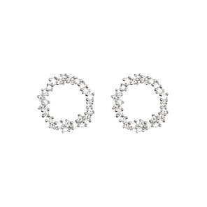 cheap Designer Jewelry-Earrings Cubic Zirconia Copper For Women's Circle European Simple Style Fashion Event / Party Daily High Quality Classic Diamond 1 Pair / S925 Sterling Silver