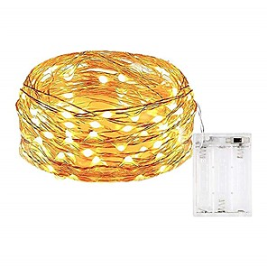 cheap LED String Lights-5m String Lights 50 LEDs SMD 0603 1pc Warm White / White / Multi Color Waterproof / Party / Decorative AA Batteries Powered