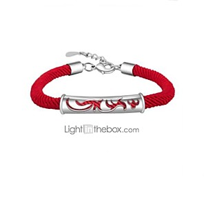 cheap Designer Jewelry-Loom Bracelet Good Luck Bracelet Metal Alloy Rhinestone For Women's Line Shape Traditional / Vintage Good Luck New Year's Daily Festival High Quality Mixed Color red rope chain Lucky Wish Bracelet 1pc