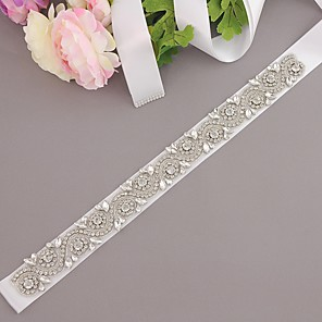 cheap Party Sashes-Polyester / Polyamide Wedding / Party / Evening Sash With Rhinestone Women's Sashes