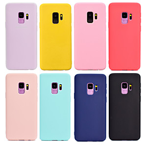 cheap Samsung Case-Case For Samsung Galaxy S9 / S9 Plus / S8 Plus Frosted Back Cover Solid Colored Soft TPU