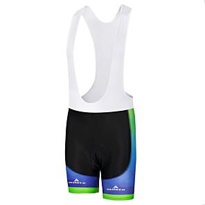 cheap Cycling Jersey & Shorts / Pants Sets-Miloto Men's Cycling Bib Shorts Bike Bib Shorts Padded Shorts / Chamois Pants Sports Polyester White / Black / Bule / Black Clothing Apparel Bike Wear / Stretchy