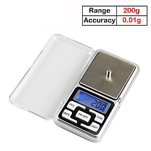 cheap Test, Measure & Inspection Equipment-200gX0.01g Electronic Balance Cuisine Digital Kitchen Scale ELectronicos Kitchen Tool Food Scales LCD Display Weighing Scale