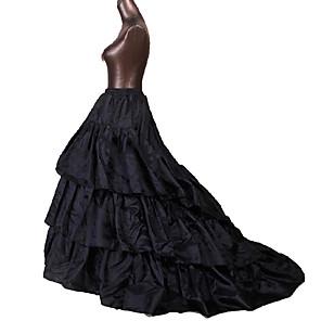 Недорогие Костюмы Старого света-Queen Принцесса Костюм для вечеринки Винтаж Косплей Лолита Тюль Черный Белый Нижняя юбка