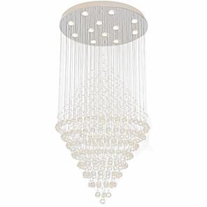 cheap Pendant Lights-12 Bulbs 80 cm Crystal / Bulb Included / Designers Chandelier Metal Electroplated Chic & Modern 110-120V / 220-240V
