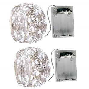 povoljno LED svjetla u traci-5m Žice sa svjetlima 50 LED diode SMD 0603 2pcs Toplo bijelo Bijela Više boja Vodootporno Party Ukrasno Baterije su pogonjene