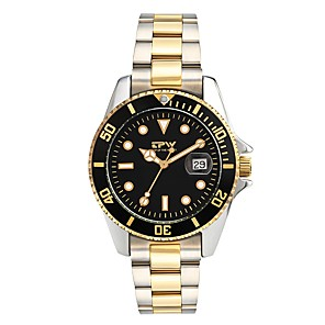 cheap Quartz Watches-Men's Dress Watch Japanese Japanese Quartz Stainless Steel Yellow 30 m Water Resistant / Waterproof Calendar / date / day Noctilucent Analog Luxury Classic Fashion - Gold / Black Fruit Green Two