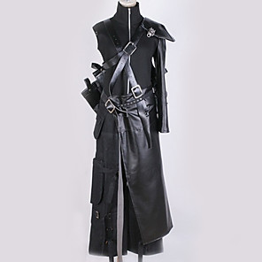 cheap Anime Costumes-Inspired by Final Fantasy 7 Cloud Anime Cosplay Costumes Japanese Cosplay Suits Special Design Solid Colored Dress Gloves More Accessories For Men's Women's