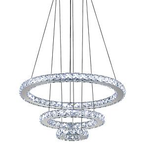cheap Pendant Lights-40 cm Crystal / LED Chandelier Metal Circle Electroplated Modern Contemporary 110-120V / 220-240V